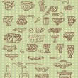 Kitchen utensils background — Imagen vectorial