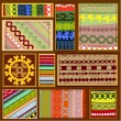 Ethnic pattern of northern Siberipeoples — Vector de stock #7223478