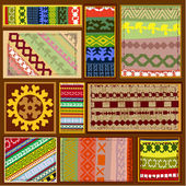Ethnic pattern of the northern Siberian peoples — Stockvector
