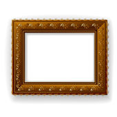 Wooden vintage frame isolated — Stock Vector