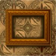 Royalty-Free Stock Vector Image: Wooden vintage frame
