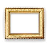 Wooden vintage gold frame — Stock Vector