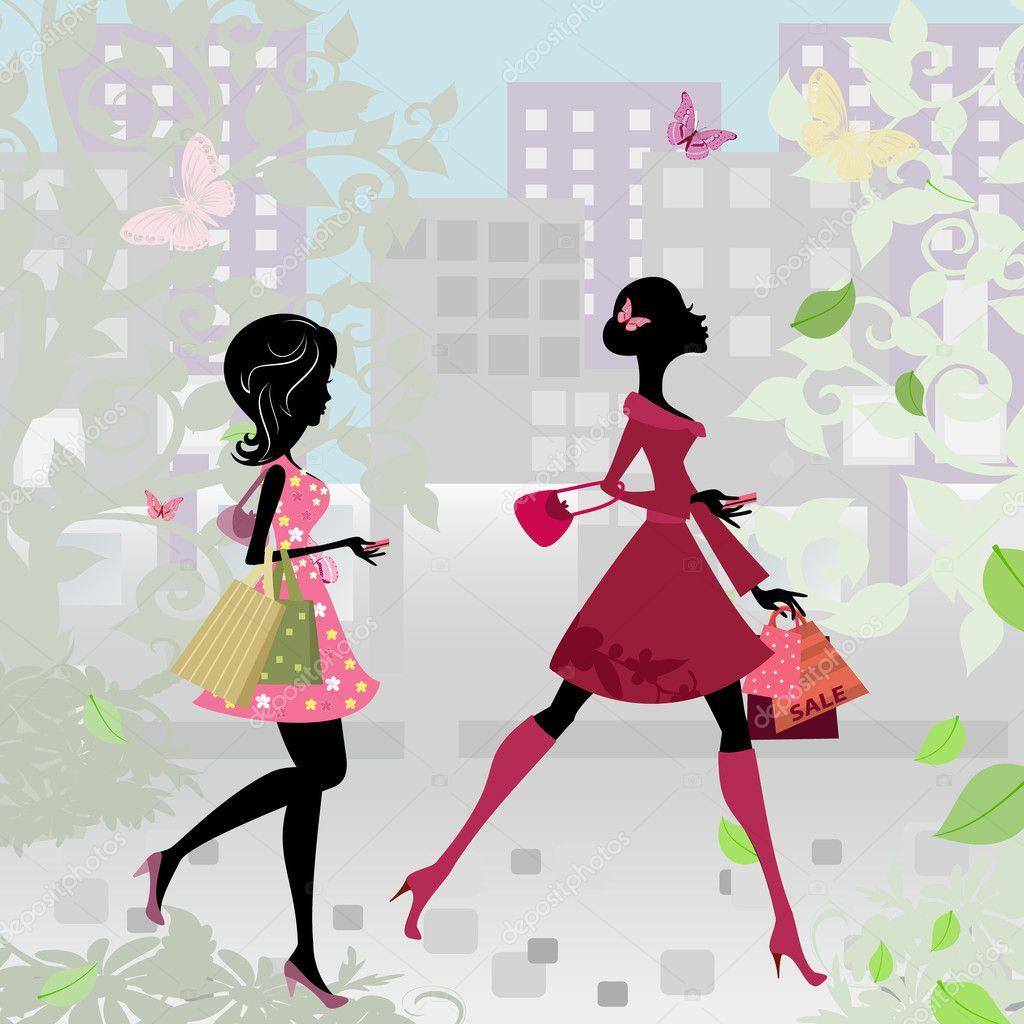 ===Recuerdos...momentos...=== - Página 2 Depositphotos_7539708-Girls-walking-around-town-with