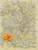 Abstracte grunge ontwerp met vlinders — Stockvector