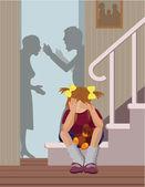 Parents get divorced — Stock Vector