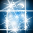 Gift christmas winter shiny abstract box greeting holiday magic xmas blue — Imagen vectorial