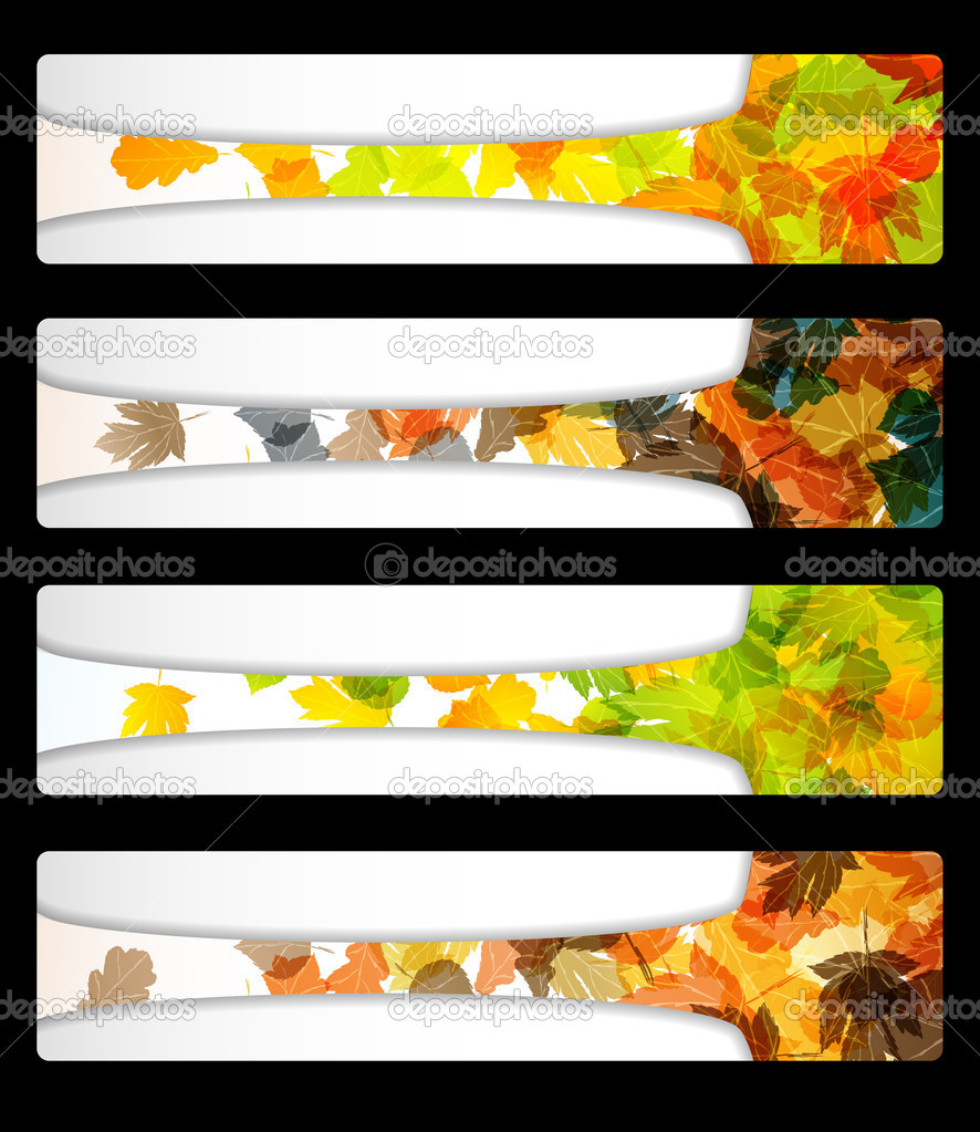 autumn discount banner poster abstract flyer stock vector autumn discount banner poster abstract flyer stock illustration