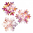 Stock Vector: Festive snowflake set