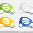 Eco car, realistic design elements — Stock Vector #7865894