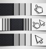 Combinação de cursor de híbrido de banner mão internet abstrata metal ferro backgrou — Vetorial Stock