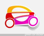 Eco car, realistic design elements — Stock Vector