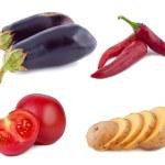 Set vegetables on white background. — Stock Photo