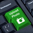 Stock Photo: Keypad button upload with photo camericon.
