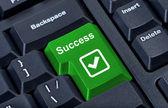 Button keypad success internet concept. — Stock Photo
