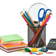 Stationery on white background for office or school. — Stock Photo