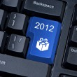 Button computer keyboard with icon gift and figures 2012. — Foto Stock