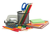 Set of stationery items. — Stockfoto