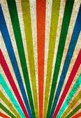 Multicolor sunbeams grunge background vintage poster. — Stock Photo