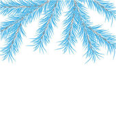 New Year's pine tree. Vector illustration — Stock Photo
