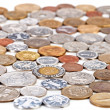 Many different coins collection, monetary concept background — Stock Photo