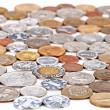 plusieurs collection de pièces de monnaie, fond monétaire concept — Photo