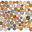 Many different old coins collection on white background — Stock Photo #7005579