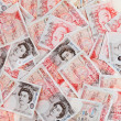 50 pound sterling bank notes closeup view business background — Стоковая фотография