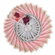 Royalty-Free Stock Photo: Many 50 pound sterling bank notes with diamonds fanned out, isol