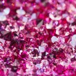 Many small ruby diamond stones, luxury background shallow depth - Foto de Stock
