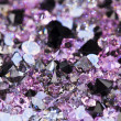 Small purple gem stones, luxury background shallow depth of fiel — Stock Photo