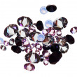 Stock Photo: Many small purple diamond (jewel) stones heap isolated on white