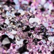 Stock Photo: Small purple gem stones, luxury background shallow depth of fiel