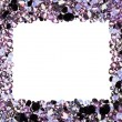 Square frame made from many small purple diamonds, with copyspac — Stock Photo #7520567