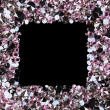 Square frame made from many small purple diamonds, with copyspac - Stock Photo