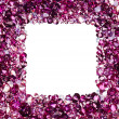 Square frame made from many small ruby diamonds, with copyspace — Stock Photo #7520598