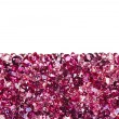 Ruby diamond jewel stones luxury background with copy space on w - Stock Photo