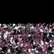 Purple diamond jewel stones luxury background with copy space on - Stock Photo