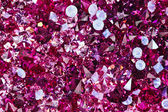 Many small ruby diamond stones, luxury background — Stock Photo