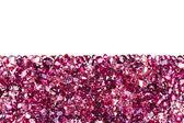 Ruby diamond jewel stones luxury background with copy space on w — Stock Photo