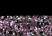 Purple diamond jewel stones luxury background with copy space on — Stock Photo