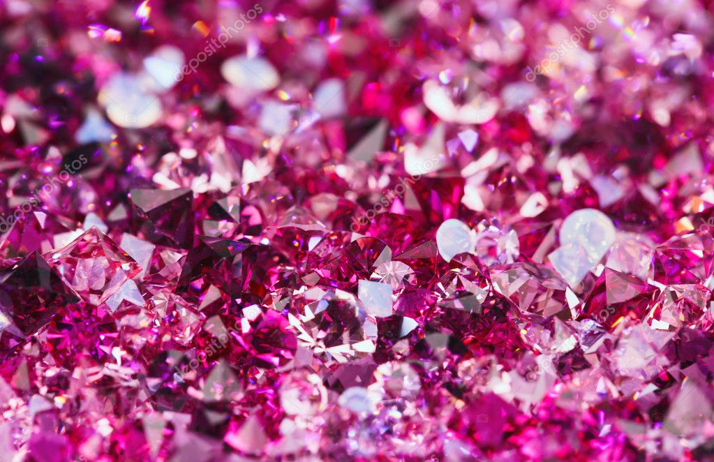 Many small ruby diamond stones, luxury background shallow ...