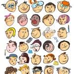 Face cartoon — Stock Vector #6958187