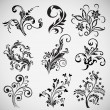 Flower ornament vector patterns, vintage elements — Vector de stock #6958363