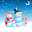 Snowman christmas background - Stock Vector