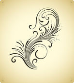Elemento de decoración floral de ornamento. diseño retro — Vector de stock