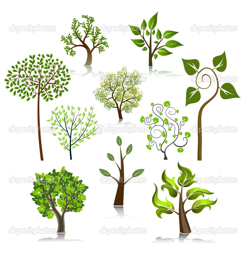 Tree vector icons vector illustration — Stock Vector #6958281