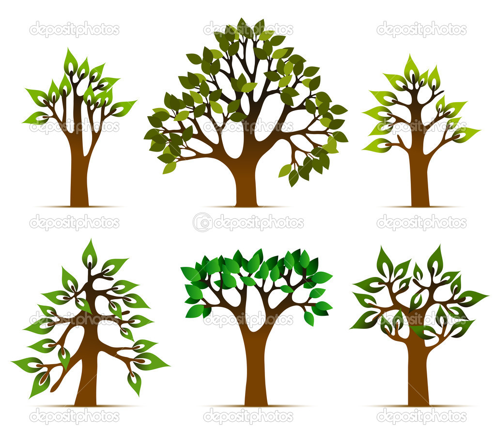 Tree vector icons vector illustration — Stock Vector #6958359
