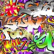 Graffiti wall vector abstract background — Stock Vector