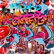 图库矢量图片: Graffiti wall vector abstract background