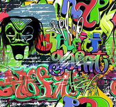 Graffiti wall vector abstract background — Wektor stockowy